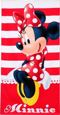 861cb3dd05 Minnie egér törölköző (piros-fehér csíkos), 70x140 cm